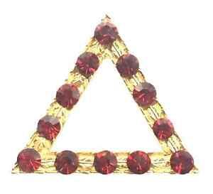Large Triple Tau Emblem Orange Lodge Order Nickel Plated for Collarette Sash