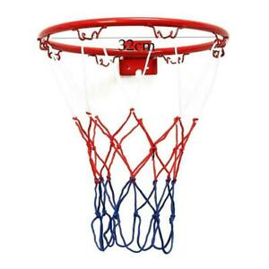 Basketball Goal Hoop Rim Net Wall Mounted Foldable Outdoor gift For Indoor Y8E9