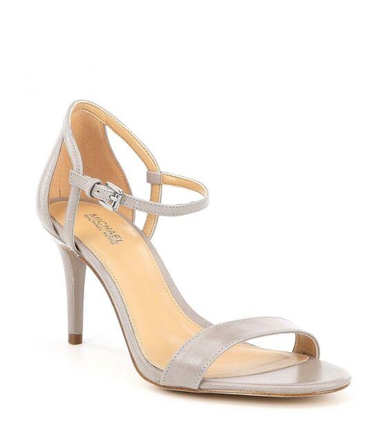 6accf8ada555 MICHAEL Michael Kors  SIMONE  Mid Dress Sandal w Heels ALUMINUM Sz. 9.5