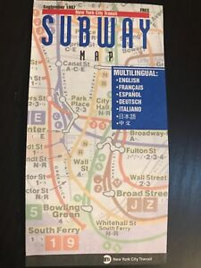 Nyc Subway Map 1997.Details About Multilingual 1997 Nyc New York City Subway Map Pocket Mta Guide Jackie