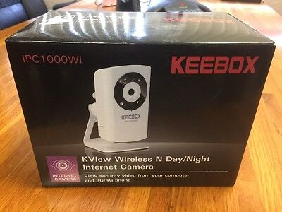 Used Keebox IPC1000W 640 x 480 RJ45 KView Wireless N Internet Camera
