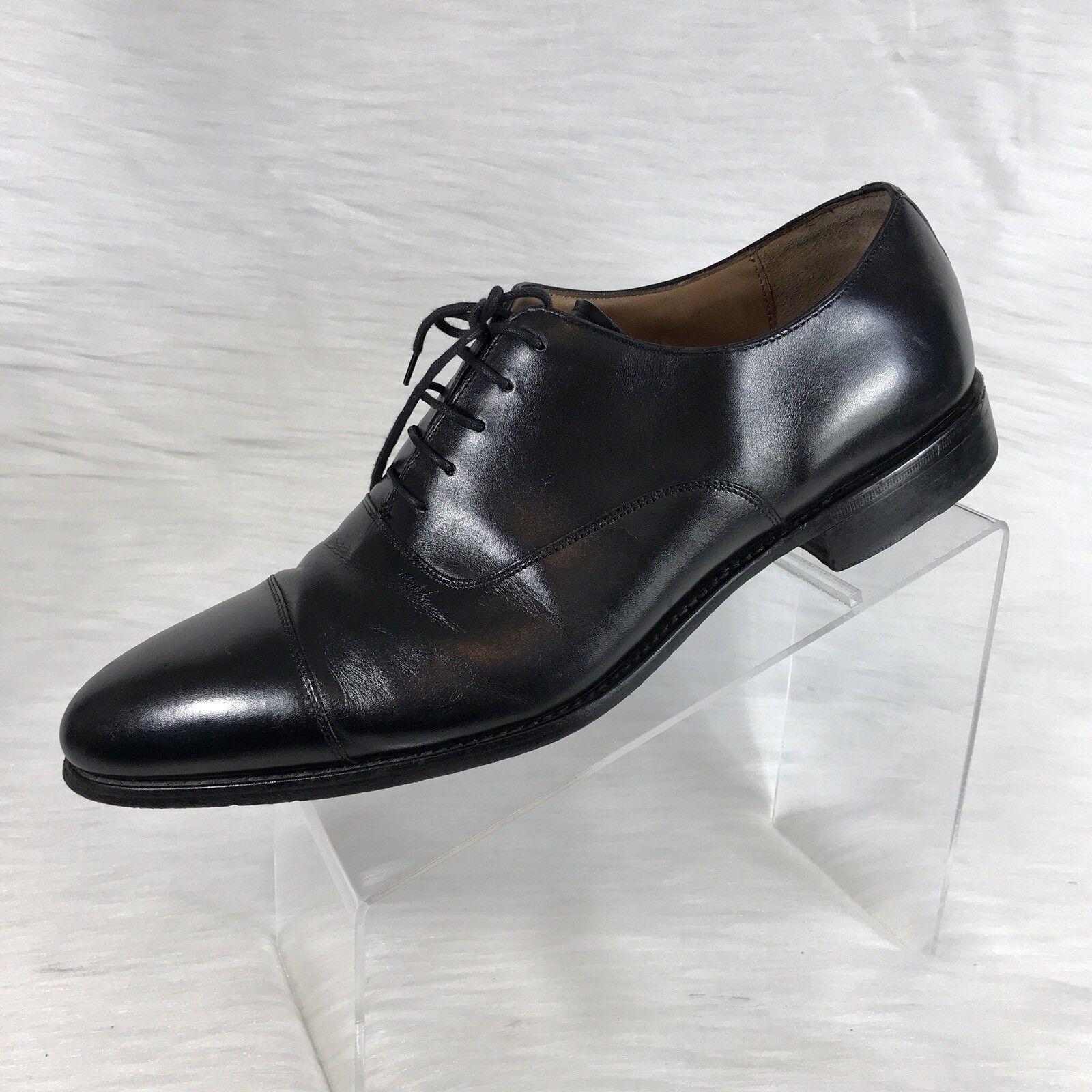 esclusivo LodinG LodinG LodinG Paris Uomo Oxford nero Leather Cap Toe Derby Dress scarpe Dimensione 11.5  comprare a buon mercato