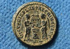 CONSTANTINE I (The Great) 307-337AD. Æ Follis Ticinum mint, Scarce P on altar.
