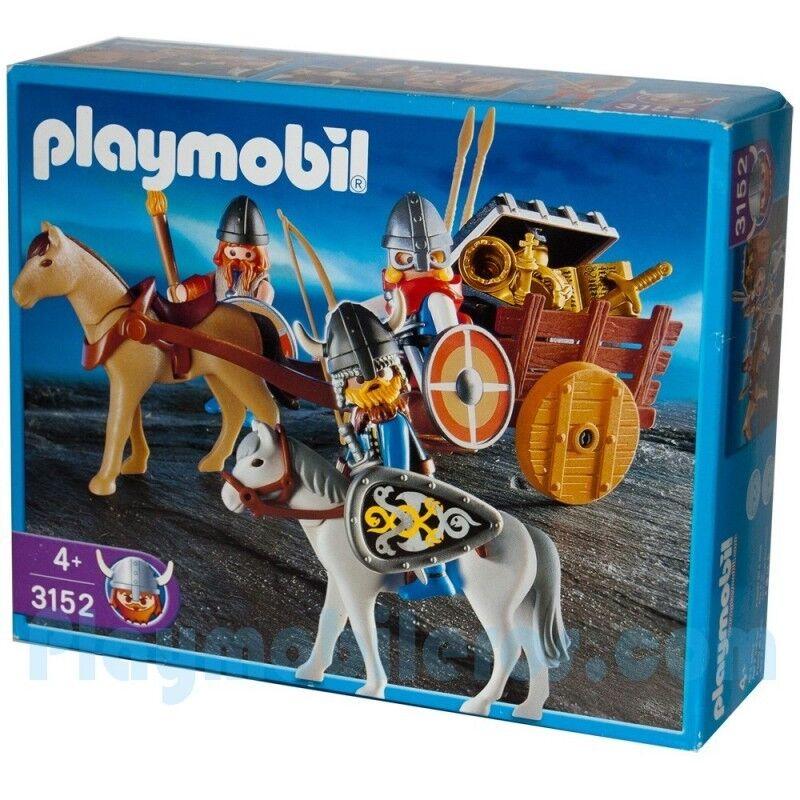 Playmobil 3152 Viking Raiders and Cart Retirot