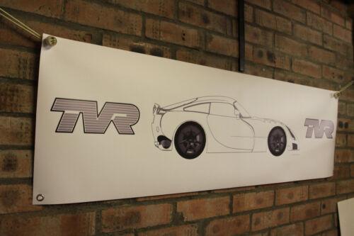 TVR SAGARIS Large PVC BANNER garage atelier Show De Voiture Bannière