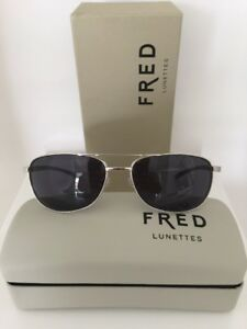 Image is loading New-Authentic-FRED-Lunettes-ELLESMERE -Aviator-SUNGLASSES-8328- 5dacc2225fb0