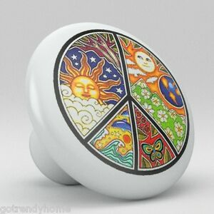 Peace Ceramic Knobs Pulls Kitchen Bathroom Closet Drawer Door Cabinet 083 Pantry Bien Vendre Partout Dans Le Monde
