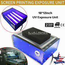 New 1812 Exposure Unit For Hot Foil Pad Screen Printing Plate Curing 110v Diy
