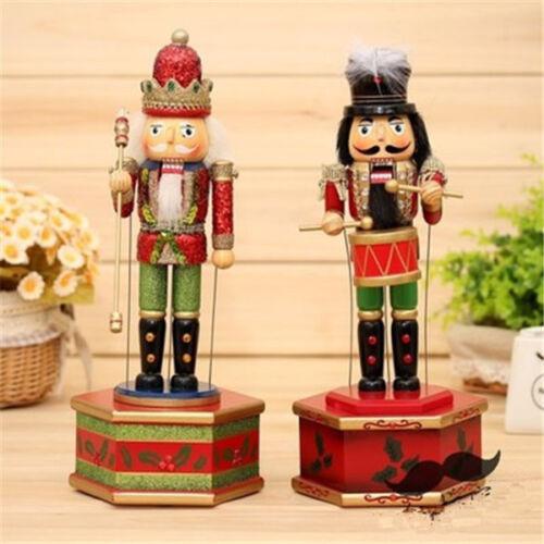 Soldados de nogal hecha a mano de madera de Navidad Cascanueces Navidad baterista Adornos Set