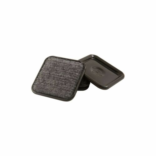 """Round Gray Carpet Based Waxman 22210491 1-3//4/"""" Id Caster Cups"""