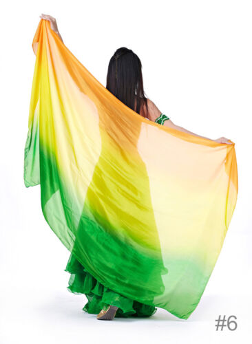 C125 Bauchtanz Kostüm Schleier 100/% Seide Schal Tuch Belly Dance 100/% Silk Veil