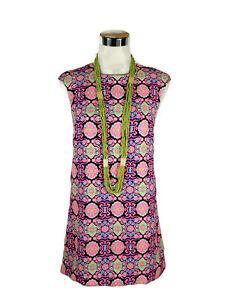 MIKA-amp-GALA-Dress-Geometric-Floral-Shift-Zip-Boho-Pink-Black-Green-Yellow-6
