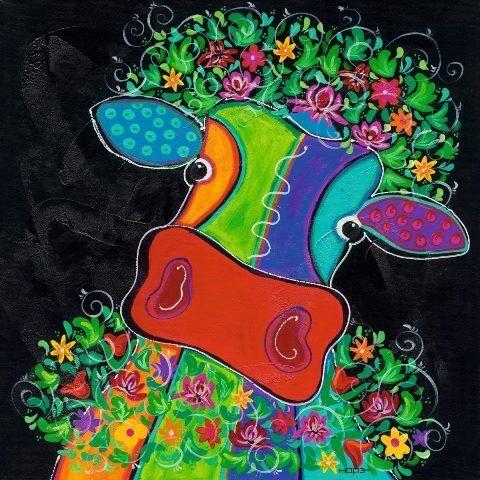 Hope  Maya dans total Bliss II vache pop terminé-image 70x70