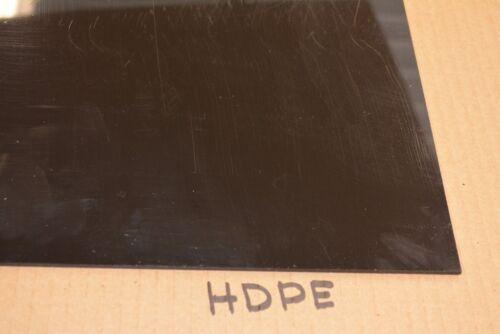 "HDPE  SHEET BLACK 1//4/"" x 48/"" x 16/"" High Density Polyethylene"