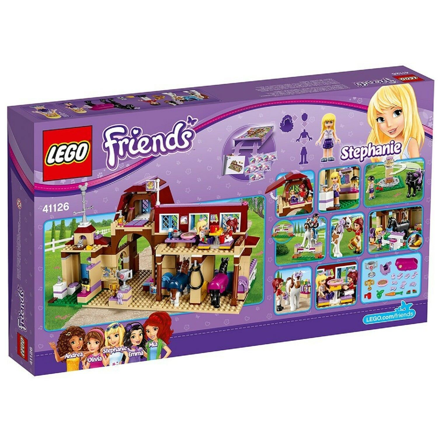 LEGO 41126 Friends Heartlake Riding Club Construction with Minifigures Set Kids