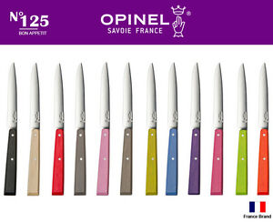 Opinel France No125 BON APPETIT Kitchen Table Knife Single 12 Colors Select