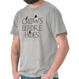 Crows-Before-Hoes-Night-Watch-Fantasy-TV-Show-Mens-Short-Sleeve-Crewneck-Tee