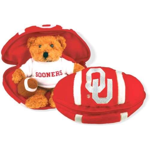 Football Oklahoma Sooners Stuffed Bear in a Ball