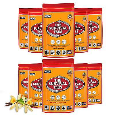 40 Vanilla Tabs ER Emergency Food Ration Meals Ready to Eat MREs Case of Entrees