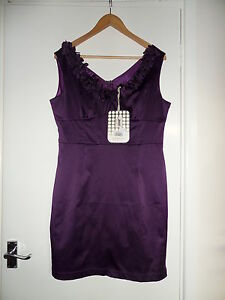 NEW-Secret-Weekend-Purple-Cotton-Dress-Size-UK-12-EU-M-RRP-55