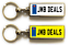 miniature 24 - Personalised Metal Double Sided Registration Number Plate Keyring Any Name /Text
