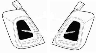735638268-735638269 Genuine FIAT 500 2015-on Arrière Queue Lampe insère RH et LH