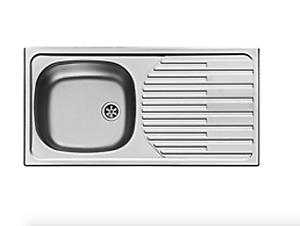 Einbauspüle Admiral CA1-86 x43,5cm Küchenspüle Edelstahlspüle Spülbecken Spüle