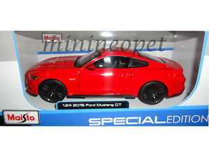 MAISTO 31508 2015 15 FORD MUSTANG GT 5.0 1/24 DIECAST MODEL CAR RED