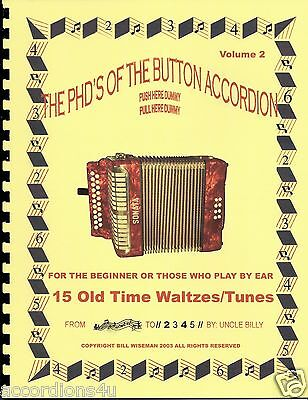 BUTTON ACCORDION BOOK, OLD TIME WALTZES, PLAY BY NUMBERS FOR THE 1, 2 OR 3  ROW   eBay