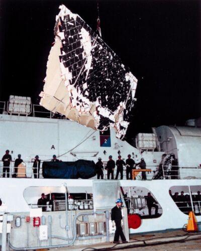 Space Shuttle Challenger debris aboard US Coast Guard cutter STS-51L Photo Print