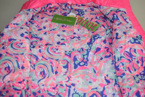 New With Tags Lilly Pulitzer Skylar Flamingo Pink Vest Jacket S XL
