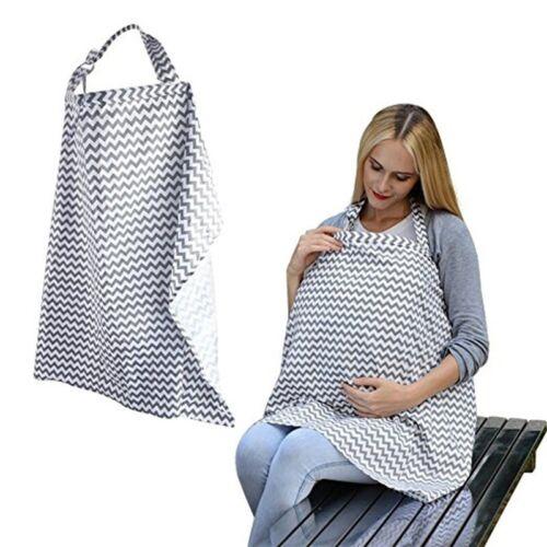 Nursing Breastfeeding Cover Scarf Baby Car Seat Canopy Diagonal Stripe Shawl new