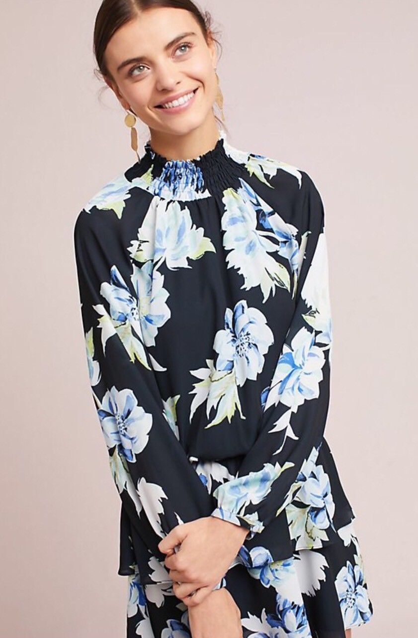 ANTHROPOLOGIE YUMI KIM BARTRAM FLORAL DRESS new with with with tag size L 5f95d1