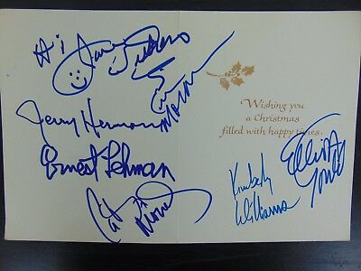 """Movies Cards & Papers Delicious """"multi-signed"""" Christmas Card Gould Moran Moriarty Others Jsa Coa"""