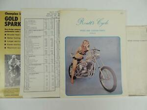 1970 S Motorcycle Parts Catalog And Mailer Triumph Harley Chopper L1312 Ebay