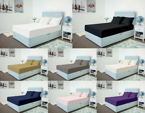 Extra Deep 40cm Full Fitted Sheet Bed Sheets Single Double King 100/% Poly Cotton