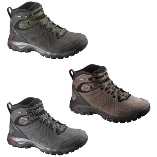 Salomon Evasion Leather Gore Tex Men's Hiking Boots Outdoor Trekking Shoes