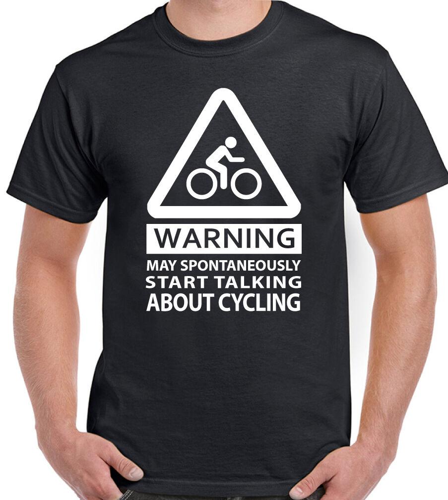 Spontanément peut commencer T-shirt à parler de vélo-Homme Drôle T-shirt commencer vélo de montagne e5b86e