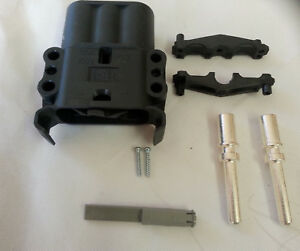 Battery Connector Ebc 160 Amp Forklift Truck Twin Plug On The Vehicle Charger Ebay