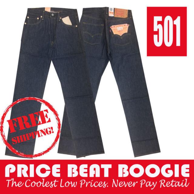 d2c2244b Levi's Strauss Men's 501 Shrink 2 Fit Straight Leg Jeans Indi Blue Free  Shipping
