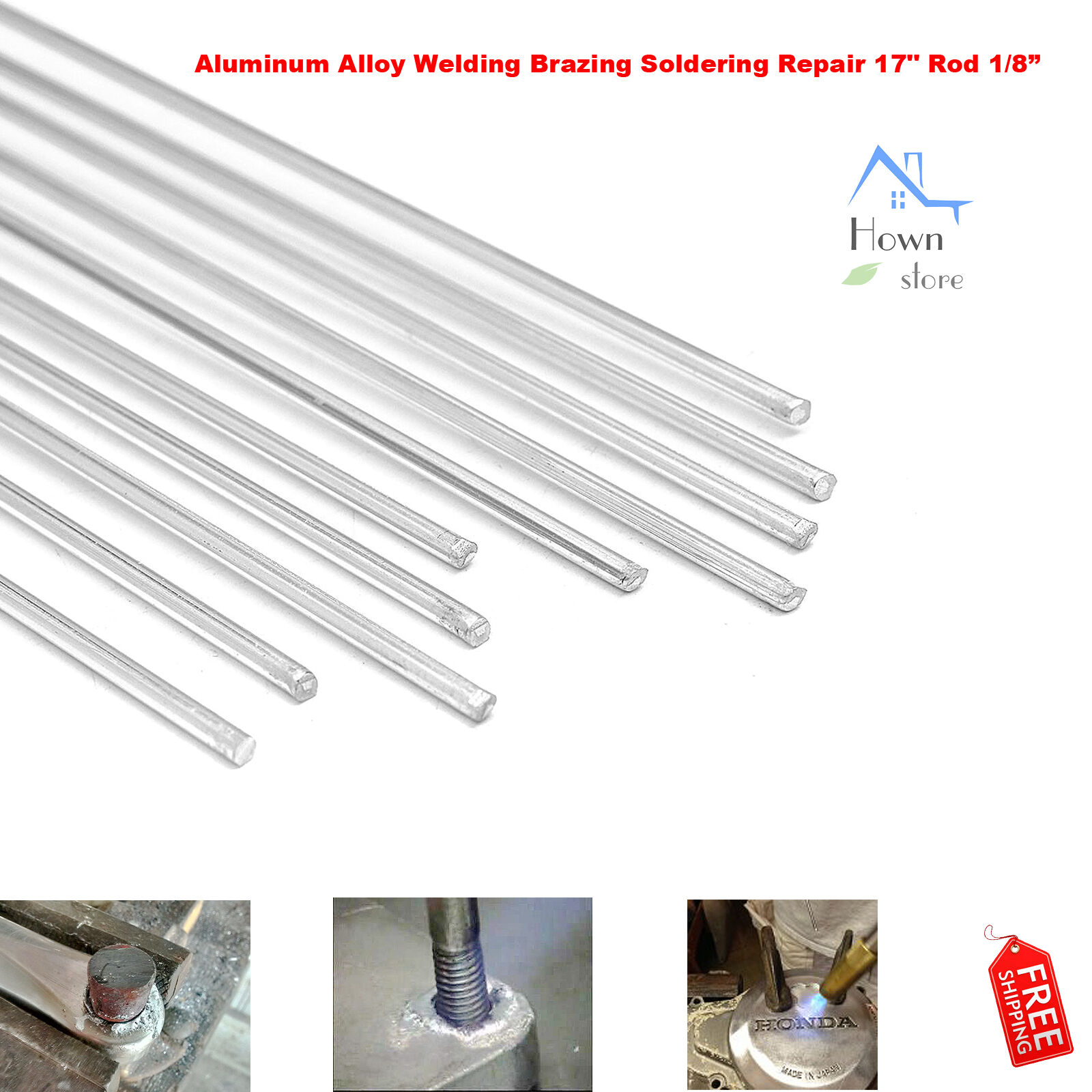 10pcs 450mm Aluminum Alloy Silver Welding Rods Tools For Cracks Polish Paint
