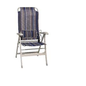 Camping-Bel-Sol-Aluminium-Chaise-de-Pliante-avec-Lordosestutze-Terra