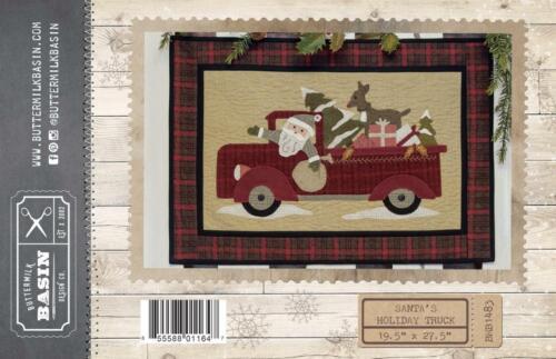 Santa/'s Holiday Truck Christmas Gifts Reindeer Quilt Buttermilk Basin Pattern