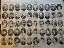 JOURNAL ILLLUSTRE 1885 N 51 PORTRAITS DU PERSONNEL ENTIER 1er THEATRE NATIONAL