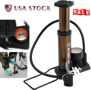 Mini Bike Pump Bicycle Inflactor Tire Portable With Gauge & Valve 160 Psi US