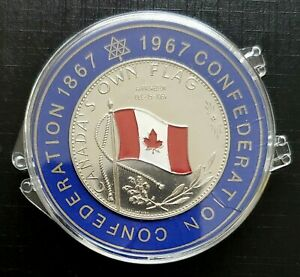 1964-Canada-039-s-Own-Flag-Rare-Nickel-Medallion