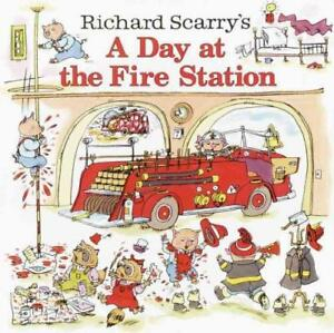 A-DAY-AT-THE-FIRE-STATION-SCARRY-RICHARD-NEW-PAPERBACK-BOOK