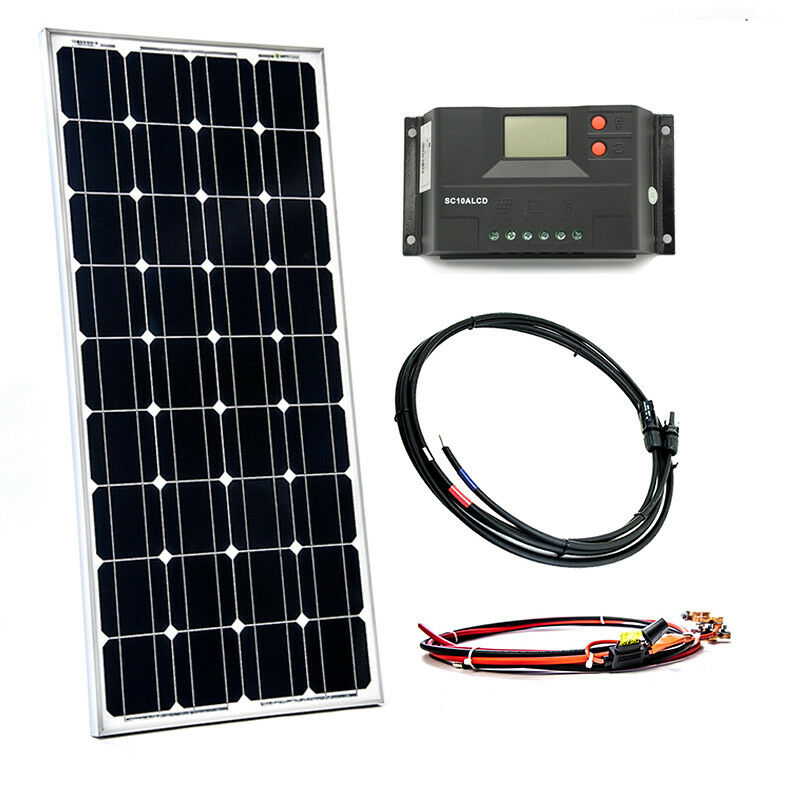 80Watt Solaranlage Solar Bausatz Inselanlage Set Garten Camping Wohnmobil 12V