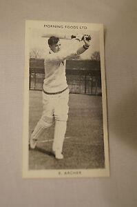 1953-Vintage-Morning-Foods-Ltd-Cricket-Card-R-G-Archer-Queensland
