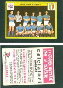 Nazionale-Italiana-Panini-Soccer-CARD-1968-69-Mint